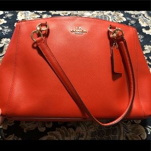 Authentic Coach orange handbag
